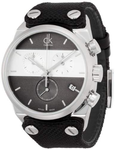 Calvin Klein Herren-Armbanduhr Chronograph Quarz Leder K4B381B3
