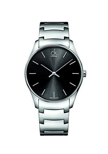 Calvin Klein Herren-Armbanduhr Analog Quarz Edelstahl K4D21141