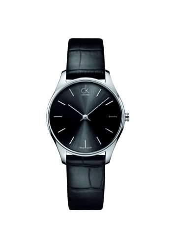 Calvin Klein Unisex-Armbanduhr Analog Quarz Leder K4D221C1