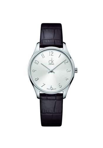 Calvin Klein Unisex-Armbanduhr Analog Quarz Leder K4D221G6
