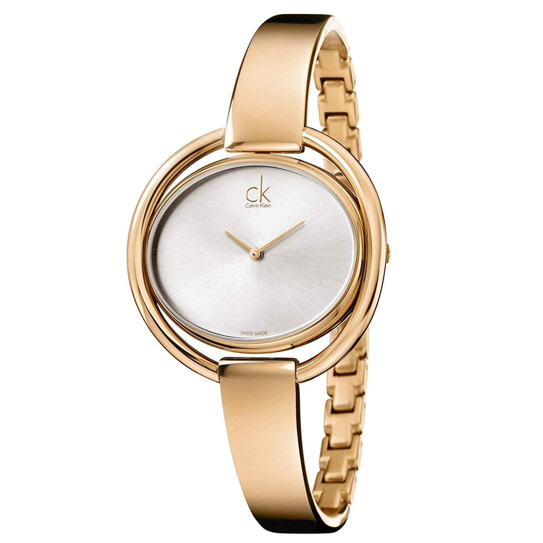 Calvin Klein Damen-Armbanduhr Analog Quarz Edelstahl K4F2N616
