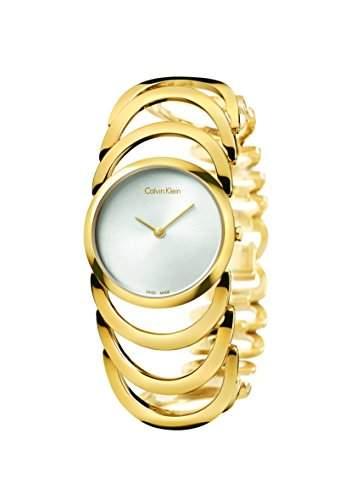 Calvin Klein Damen-Armbanduhr Analog Quarz Edelstahl beschichtet K4G23526