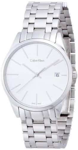 Calvin Klein Damen-Armbanduhr Analog Quarz Edelstahl K4N23146