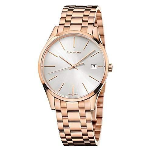 Calvin Klein Damen-Armbanduhr Analog Quarz Edelstahl K4N23646