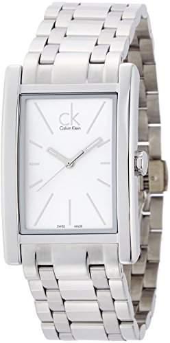 CK Herren-Armbanduhr XL Analog Quarz Edelstahl K4P21146
