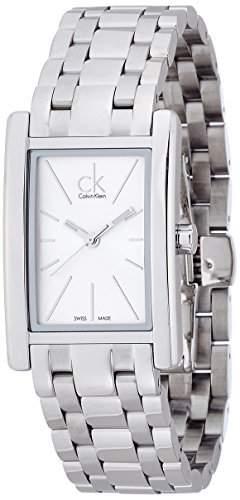 CK Damen-Armbanduhr Analog Quarz Edelstahl K4P23146