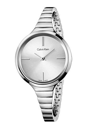 Calvin Klein Damen-Armbanduhr Analog Quarz Edelstahl K4U23126