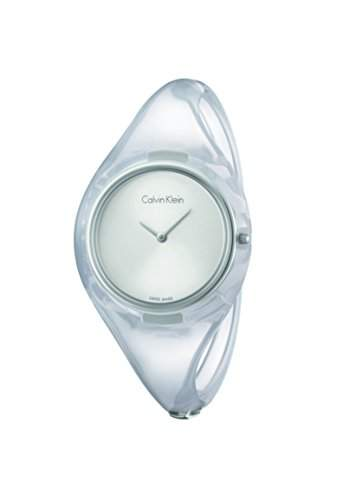 CK Damen-Armbanduhr Analog Quarz Plastik K4W2SXK6