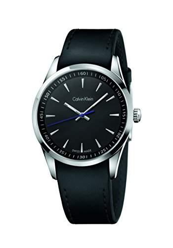 CK Herren-Armbanduhr XL Analog Quarz Leder K5A311C1