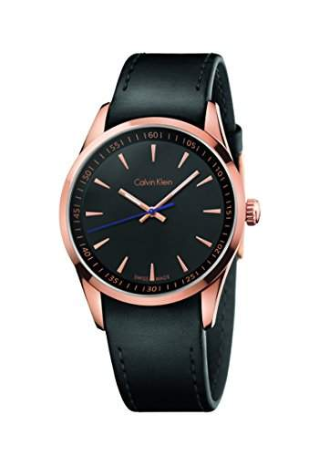 Calvin Klein Herren-Armbanduhr Analog Quarz Leder K5A316C1