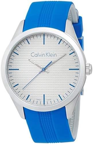 Calvin Klein Unisex-Armbanduhr Analog Quarz Kautschuk K5E51FV4
