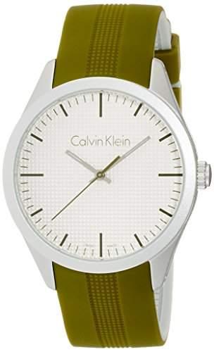 Calvin Klein Unisex-Armbanduhr Analog Quarz Kautschuk K5E51FW6