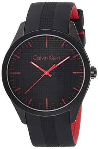 Calvin Klein Unisex-Armbanduhr Analog Quarz Kautschuk K5E51TB1