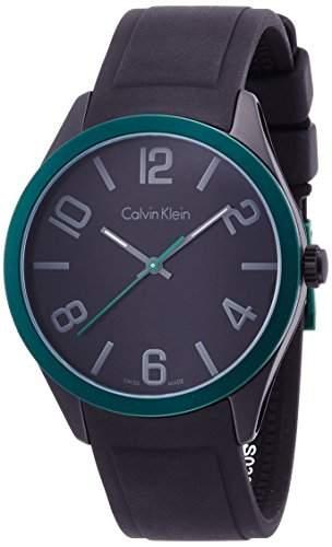 Calvin Klein Unisex-Armbanduhr Analog Quarz Kautschuk K5E51ZB1