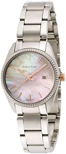 Calvin Klein Damen-Armbanduhr Analog Quarz Edelstahl K5R33B4H