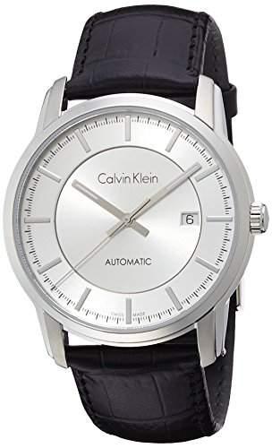 Calvin Klein Herren-Armbanduhr Analog Automatik Leder K5S341C6