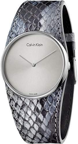 Calvin Klein Damen-Armbanduhr Analog Quarz Leder K5V231Q4