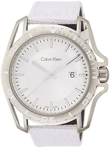 Calvin Klein Herren-Armbanduhr Analog Quarz Textil K5Y31VK6