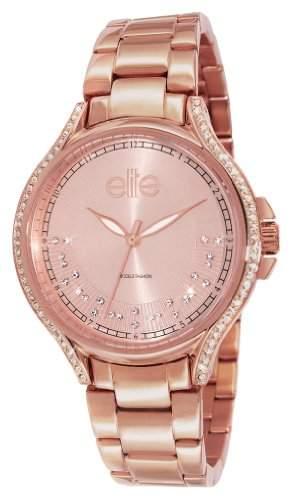 Elite Models Fashion Damen-Armbanduhr E53484G-812 Analog Quarz Rosa E53484G-812