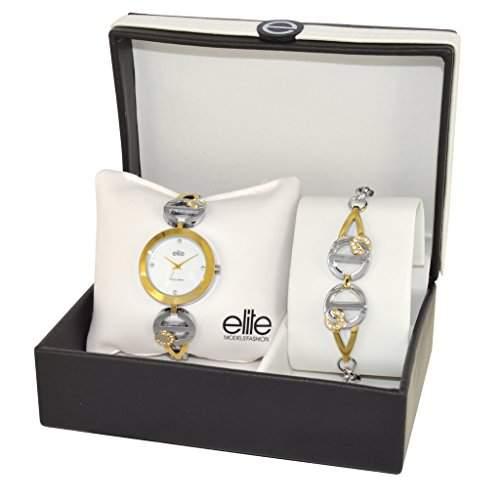 Elite ModelsFashion-E 53940-301 Damen-Armbanduhr Alyce Quarz Analog Metall Silber