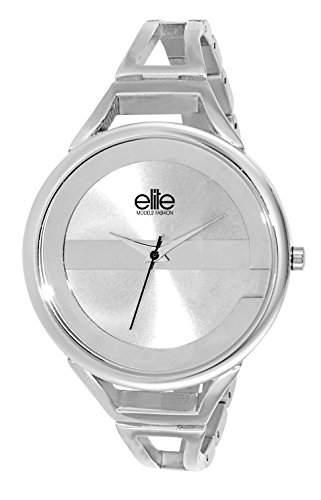 Elite ModelsFashion-E 54154-204 Damen-Armbanduhr Alyce Quarz analog Stahl Silber