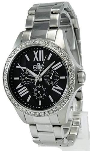 Elite ModelsFashion-E 54354-203 Damen-Armbanduhr Alyce Quarz analog Stahl Silber