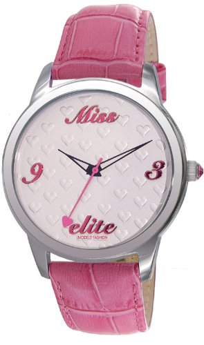 Elite Analog White Dial Womens Watch E52982 006