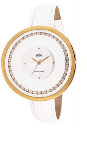 Elite Analog White Dial Womens Watch E52892 201
