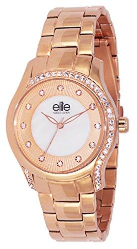Elite Models Fashion Damen Armbanduhr Analog Quarz Edelstahl E54034G 812