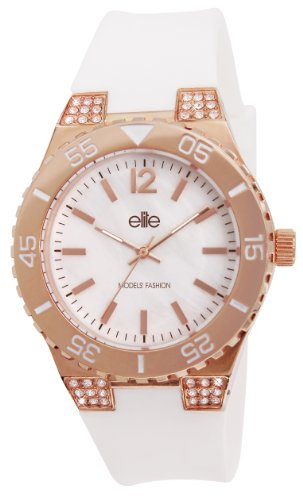 Elite Models Fashion e53249g 801 Quartz Armbanduhr EE5002 Analog Silikon Weiss