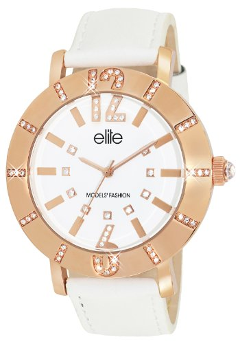 Elite ModelsE53502G 801 Fashion Lolla Quarz analog Leder Weiss
