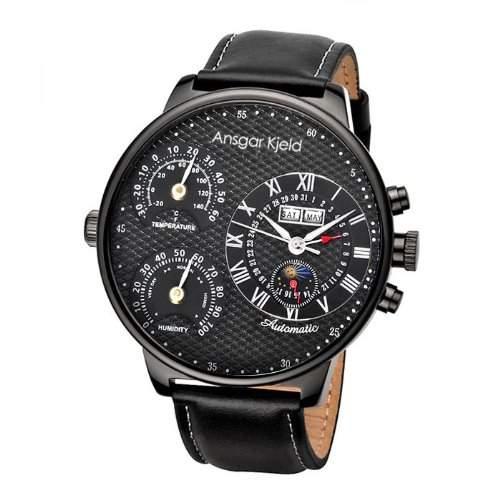 Ansgar Kjeld Herren Automatik Armband Uhr XXL 55 mm NexoLBB