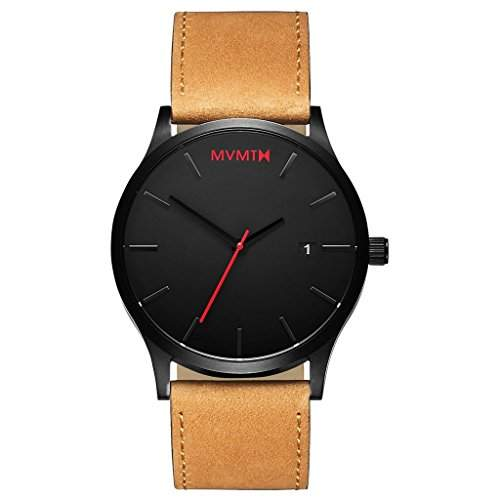 MVMT Watches Classic Herren Uhr BlackTan Leder Armband MC01BTL