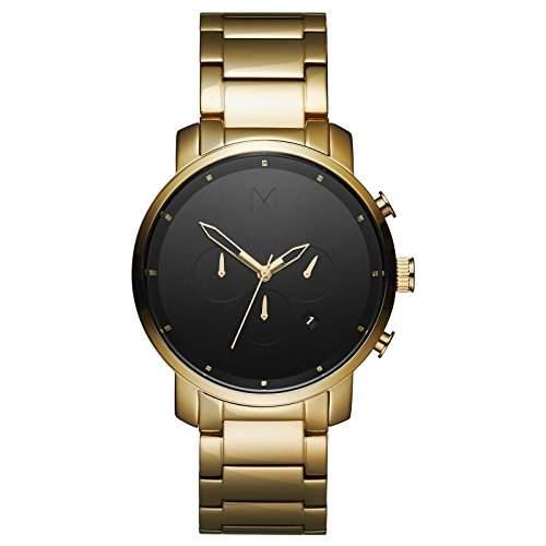 MVMT Herren Watch Uhr WhiteSilver gebuerstetes Edelstahl Armband MC01WS