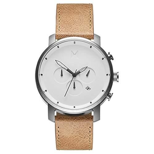 MVMT Herren Watch Uhr WhiteTan Leather Armband Uhr MC01WT
