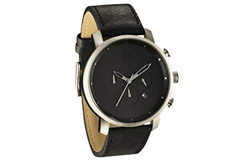 MVMT Herren Watch Uhr Chronograph Silver Black Leder Armband MCC01BSL