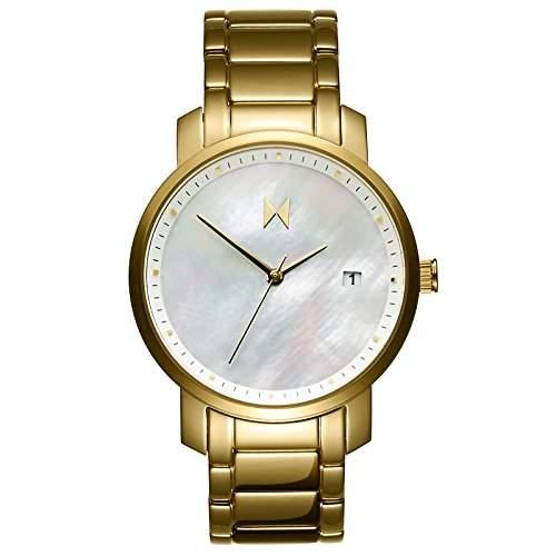 MVMT Damen watch Uhr Female Gold Pearl Edelstahl poliertes Armband MF01-G