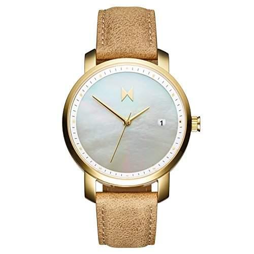 MVMT Damen watch Uhr Female Gold Perl Leder Armband MF01-GL