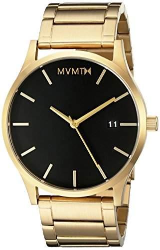 MVMT Herren Watch Uhr BlackGold gebuerstetes Edelstahl Armband MM01BG