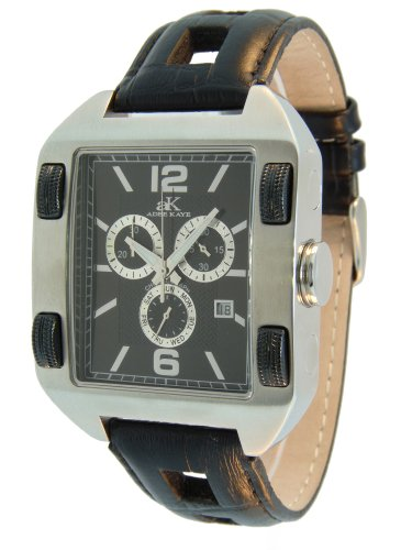 Adee Kaye Herren AK6268 M BLK Schweizer ISA Chronograph Movement