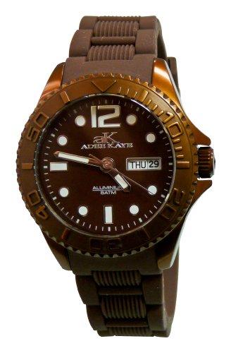 Adee Kaye D Aluminio Damen Braun Silizium Armband Mineral Glas Uhr ak5433 L BN