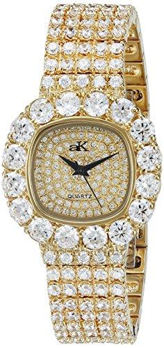 Adee Kaye Bijou Damen Gold Blech Armband Blech Gehaeuse Uhr ak26 LG CR