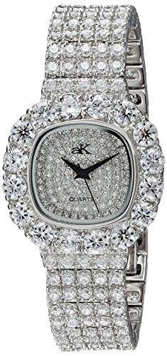 Adee Kaye Bijou Damen Silber Blech Armband Blech Gehaeuse Uhr ak26 L CR