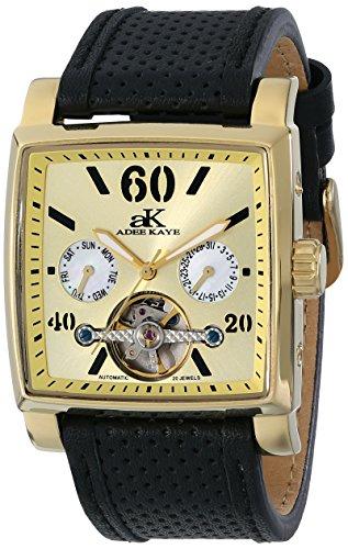 Adee Kaye Ak9043 Herren Automatikwerk Schwarz Leder Armband Datum Uhr ak9043 MG