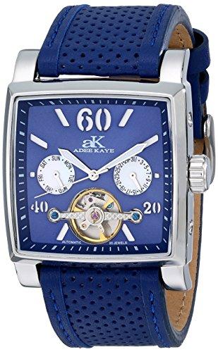 Adee Kaye Unisex ak9043 m BU Wall Street Analog Display Automatische selbst wind blau Armbanduhr