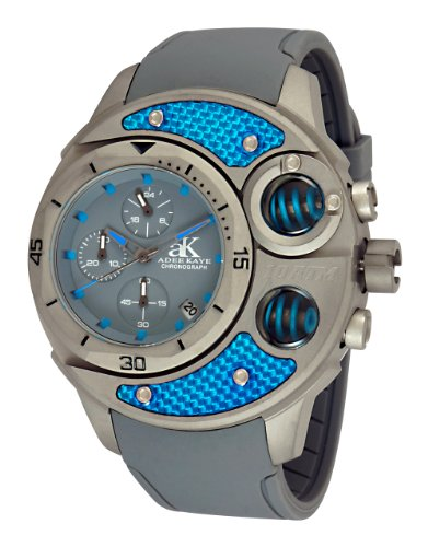 Adee Kaye Carbon Fiber Grau Silizium Armband Uhr AK8001 MT