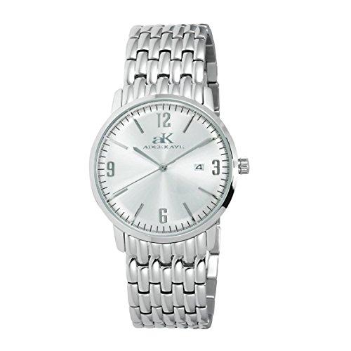Adee Kaye Dome Herren Damen Silber delstahl Armband Gehaeuse Uhr AK8224 LWT