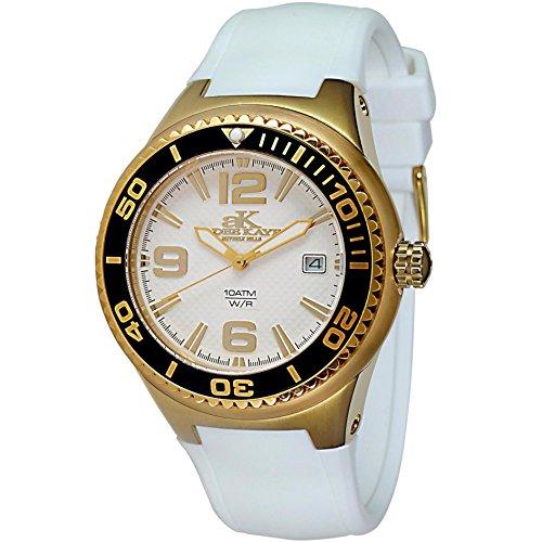 Adee Kaye Yatch Damen Weiss Keramik Armband Keramik Gehaeuse Uhr ak2230SS LG WT