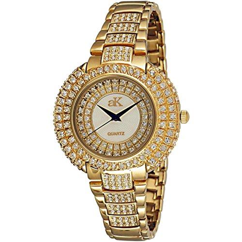 Adee Kaye Majesty Damen Gold Blech Armband Blech Gehaeuse Uhr ak9 30LG CR