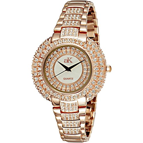 Adee Kaye Majesty Damen Rotgold Blech Armband Blech Gehaeuse Uhr ak9 30LRG CR